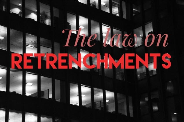 the law on retrenchments